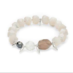 Kendra Scott Sadie ivory and silver bracelet
